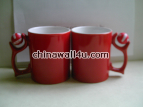 CT340 Chinared Mug with Spin Logo