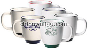 CT649 Bistro mugs,color band