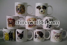 CT650 Mugs with dog decal