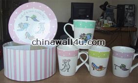 CT654 Set of 4 latte mugs