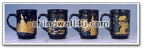 CT502 mug with gold decal